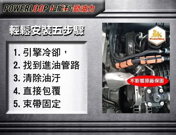 powerloop 超能利·勁油力 輕鬆安裝五步驟
